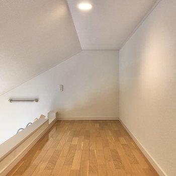 洋室と同じく横に長い約4帖のロフト。収納としても使えそう。
