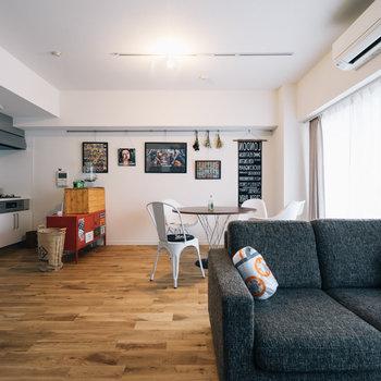 【イメージ】リビングが広いと家具の置き場所も自由自在です!