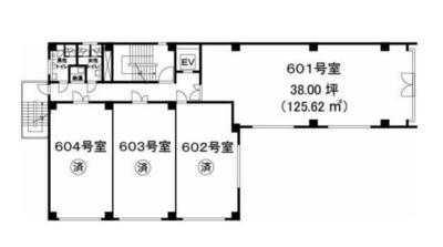 赤坂 38坪 オフィス の間取り