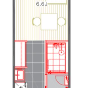 6.6畳のワンルームです!