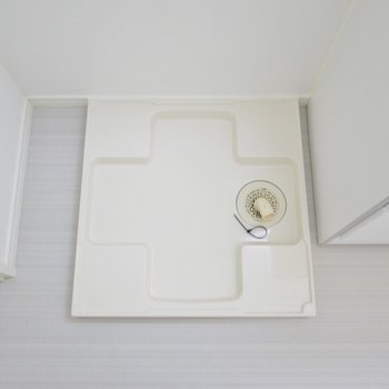 洗濯機は洗面台のすぐ横に。 (※写真は1階の同間取り別部屋のものです)