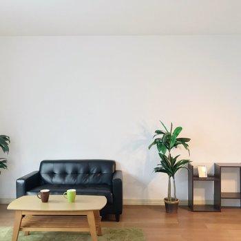 3シーターのソファなどを置いても十分な広さ。(※写真の家具・小物は見本です)