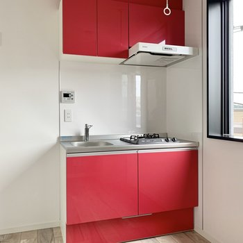 真紅のキッチン!