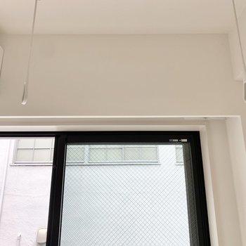 部屋干しもできます。※写真は3階の同間取り別部屋のものです