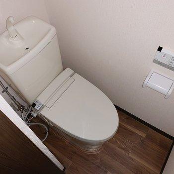 奥にはトイレ。(※写真はフラッシュ撮影をしています)