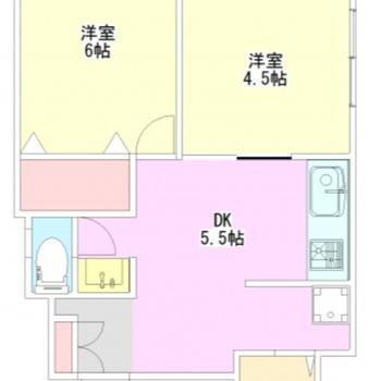バルコニーの代わりにサンルームのあるお部屋。さて、見ていきましょう。