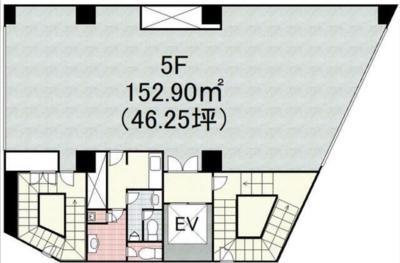 池袋 46坪 オフィス の間取り