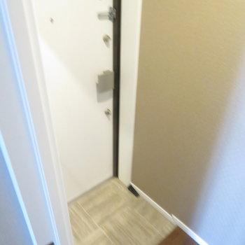 玄関はコンパクトめ。※写真は10階同間取り・別部屋のものです。