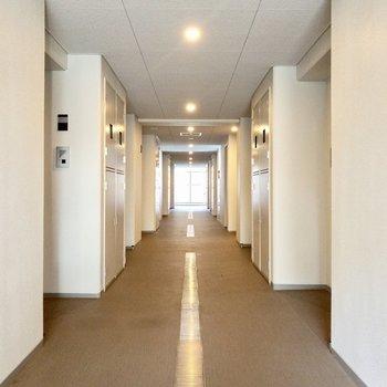 雨風が当たらなそうな共用廊下です。