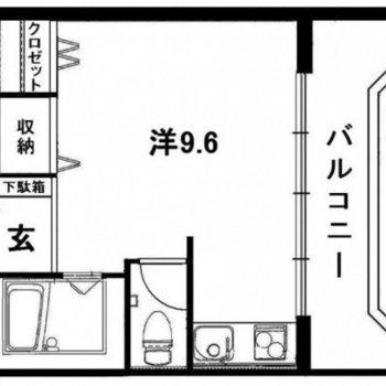 ゆったり1人暮らしが叶いそうな、ワンルームのお部屋。