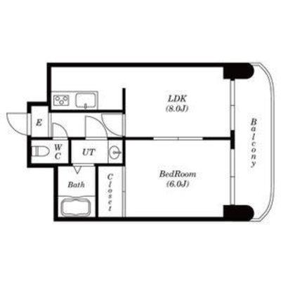 ビッグバーンズマンション東札幌Ⅳ 502号室 の間取り