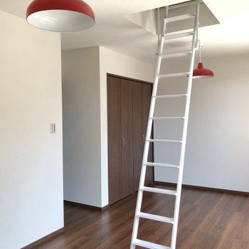 【洋室②】このお部屋は赤い照明がアクセント。