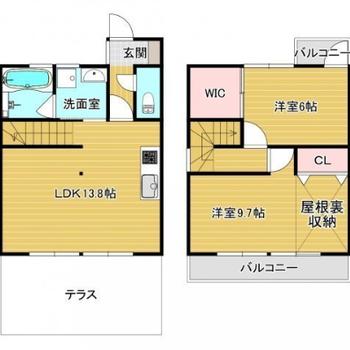 戸建てのようなアパートです。