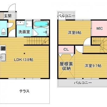 戸建てのようなアパート!