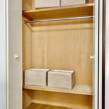 【Bed room】下部に収納ボックスも入りそうです。※写真は3階の同間取り別部屋のものです