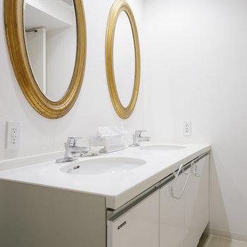 洗面台も各階にあります。※写真は前回募集時のものです