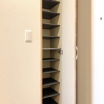 10足以上の靴が収納できそうですね。※写真は3階の同間取り別部屋のものです