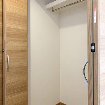 収納も大きめで安心感がありました。※写真は3階の同間取り別部屋のものです