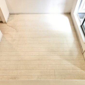 上からのぞいてみました。ロフトの使い方によって家具も変わってきそう(※写真は清掃前のものです)
