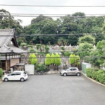 眺望は覚源院というお寺です。