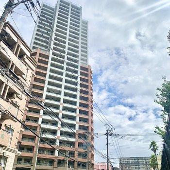 30階建てのタワーマンション!今回のお部屋は14階です。