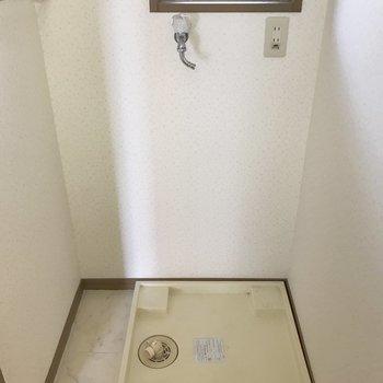 脱衣所に洗濯機が置けて窓もある!(※写真は2階の反転間取り別部屋のものです)