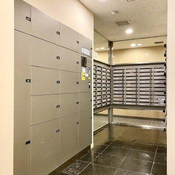 宅配ボックスがあるので不在時の荷物も受け取れますね。