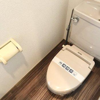 トイレの床も可愛いんだから!