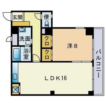 1〜2人暮らしにぴったりな1LDKのお部屋です。
