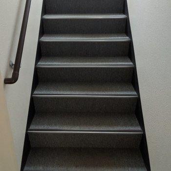 1階分階段を上ります。