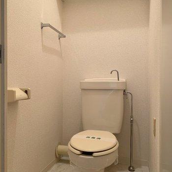 トイレは個室です。こじんまりとしていて落ち着きます。
