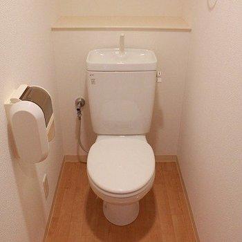 トイレはベーシックタイプです(※写真は8階同間取り別部屋のものです)