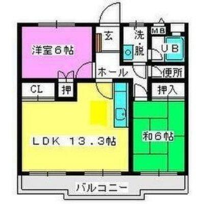 メゾン・ド・Fuji2の間取り