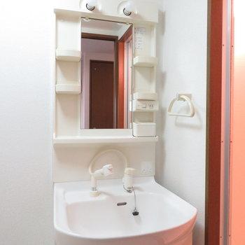 収納多めの洗面台(※写真は1階同間取り別部屋のものです)
