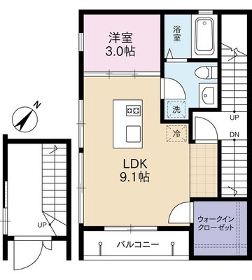 Apartamento KOMAGOME アパルタメントコマゴメ の間取り