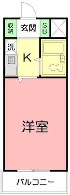 シルフィード平塚Ⅱの間取り