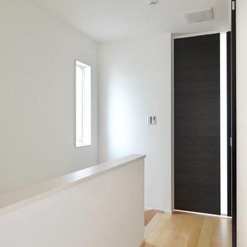 2階には廊下を挟んで洋室が2つあります。