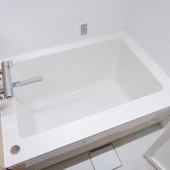 一人暮らしには十分な浴槽です。