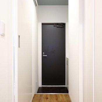 なんと玄関ドアまで新品に交換されていました。お部屋の第一印象、大事ですよね。