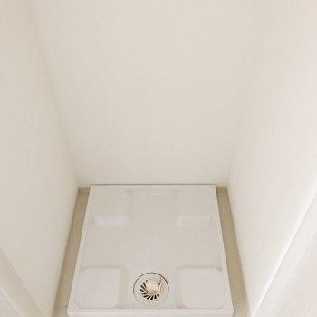 手前の扉には洗濯機置場があります