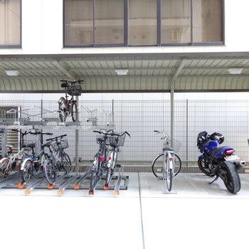 駐輪場もしっかりあります。