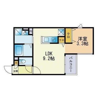 1人暮らしには充分な1LDKのお部屋。