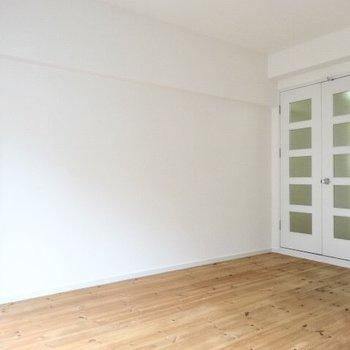 ナチュラルな家具を合わせようかな?(※写真は4階の同間取り別部屋のものです)