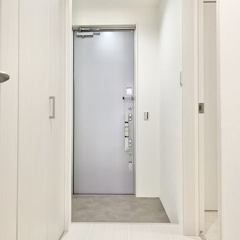 ワンルームですが廊下はドアで仕切られています。