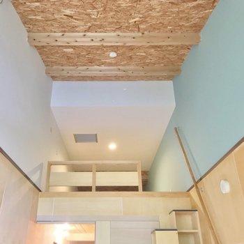 天井も合板でした。