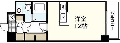 JR新白島駅前東亜ビルの間取り