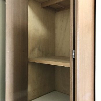 反対側にはアウトドア用品を入れておこう♩(※写真は7階の同間取り別部屋、モデルルームのものです)