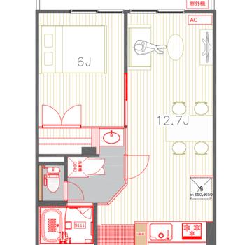 広いリビングにゆったり寝室。ふたり暮らしにちょうどいい。