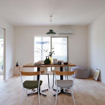 【完成イメージ】無垢床はどんな家具にも合う。家具選びがたのしくなるなあ。