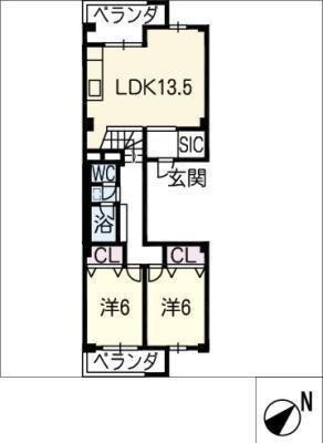 中富住宅F棟1308号室 の間取り